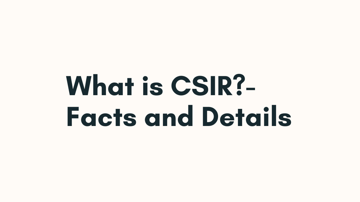 what is csir